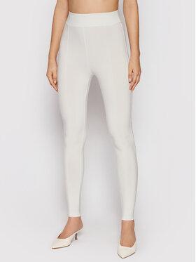 Max Mara Leisure Max Mara Leisure Spodnie materiałowe Bahamas 37860216 Biały Skinny Fit