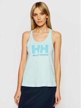 Helly Hansen Helly Hansen Top Logo Singlet 33838 Niebieski Regular Fit