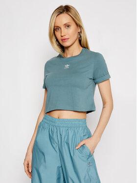 adidas adidas T-shirt adicolor Classics GN2808 Verde Regular Fit