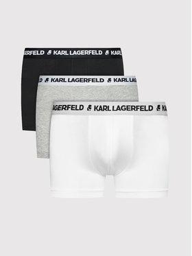 KARL LAGERFELD KARL LAGERFELD Lot de 3 boxers Logo 211M2104 Multicolore