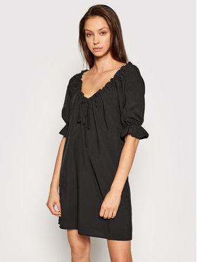 NA-KD NA-KD Ежедневна рокля Drawstring Neck 1018-006815 Черен Regular Fit