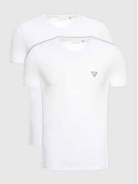 Guess Guess Σετ 2 T-Shirts U97G03 JR003 Λευκό Slim Fit