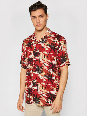 Only & Sons Only & Sons Camicia Palm 22019157 Rosso Regular Fit