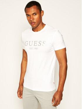 Guess Guess T-Shirt Tee M0GI93 J1300 Biały Super Slim Fit