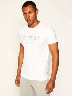 Guess Guess Тишърт Tee M0GI93 J1300 Бял Super Slim Fit
