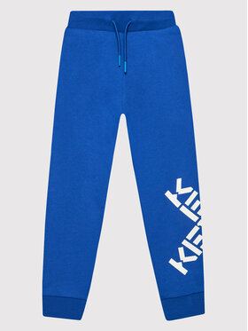 Kenzo Kids Kenzo Kids Teplákové kalhoty K24070 Modrá Regular Fit