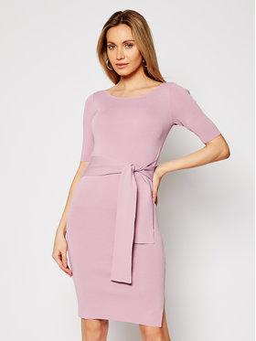 Guess Guess Sukienka dzianinowa Robe Sarah W1GK49 Z2U00 Różowy Slim Fit