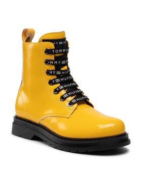 Tommy Hilfiger Tommy Hilfiger Kozaki Lace-Up Bootie T4A5-32011-0775 M Żółty