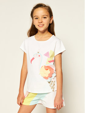 Billieblush Billieblush T-Shirt U15720 Biały Regular Fit