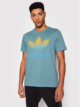 adidas adidas T-Shirt Tref Ombre T GP0164 Grün Regular Fit