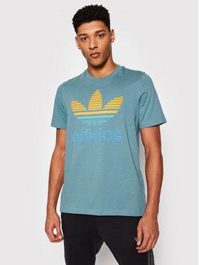 adidas adidas T-Shirt Tref Ombre T GP0164 Zielony Regular Fit
