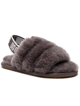 Ugg Ugg Chaussons T Fluff Yeah Slide 1098579T Gris