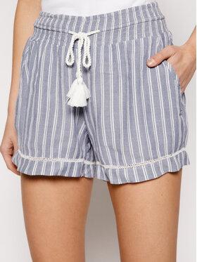 Roxy Roxy Medžiaginiai šortai Bold Blooms ERJNS03247 Mėlyna Beachy Fit