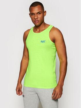 Superdry Superdry Tank top marškinėliai Ol Neon Lite M6010615A Žalia Regular Fit