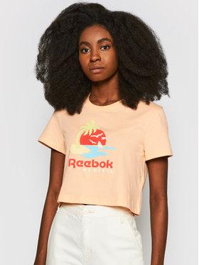Reebok Reebok T-Shirt Cl Gr Sr Tee GJ4865 Pomarańczowy Regular Fit