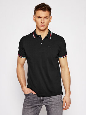 Geox Geox Tricou polo Sustainable M1210A T2649 F9000 Negru Regular Fit