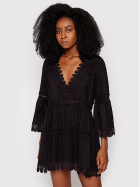 Melissa Odabash Melissa Odabash Φόρεμα παραλίας Victoria CR Μαύρο Regular Fit