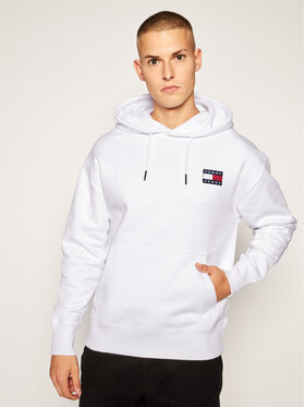 Tommy Jeans Tommy Jeans Sweatshirt Tjm Badge Hoddie DM0DM06593 Weiß Regular Fit