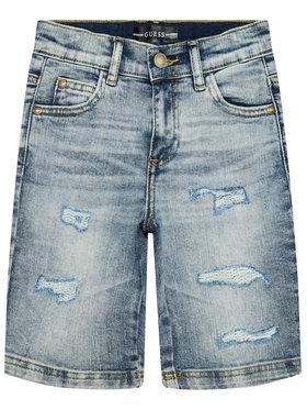 Guess Guess Szorty jeansowe L1RD02 D46T0 Granatowy Regular Fit