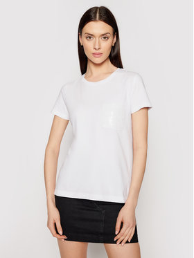 DKNY DKNY T-shirt P0RAOC2R Bijela Regular Fit