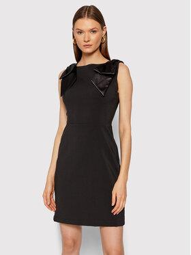 Rinascimento Rinascimento Коктейлна рокля CFC0104533003 Черен Slim Fit