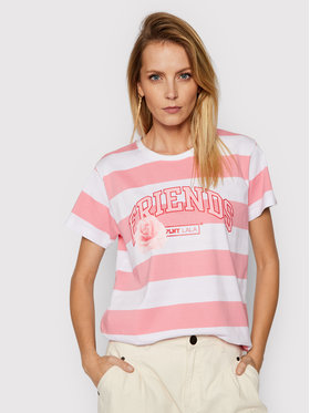 PLNY LALA PLNY LALA T-Shirt Friends PL-KO-CL-00197 Ροζ Classic Fit