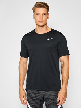 Nike Nike Тениска от техническо трико Dri-Fit Rise CZ9184 Черен Standard Fit