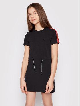 Calvin Klein Jeans Calvin Klein Jeans Ежедневна рокля Logo Tape IG0IG00807 Черен Regular Fit