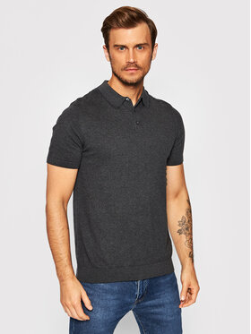Selected Homme Selected Homme Polo Berg 16074685 Szary Regular Fit