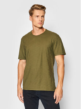United Colors Of Benetton United Colors Of Benetton T-Shirt 3JE1J19A5 Zielony Regular Fit