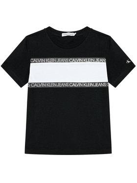 Calvin Klein Jeans Calvin Klein Jeans Marškinėliai Logo Tape Colour Block IB0IB00700 Juoda Regular Fit