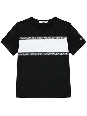 Calvin Klein Jeans Calvin Klein Jeans Tričko Logo Tape Colour Block IB0IB00700 Čierna Regular Fit