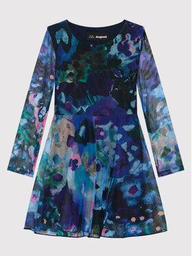 Desigual Desigual Sukienka elegancka Lipa 21WGVK19 Niebieski Regular Fit