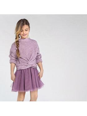 Mayoral Mayoral Комплект пуловер и рокля 7974 Виолетов Regular Fit