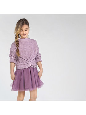 Mayoral Mayoral Komplet sweter i sukienka 7974 Fioletowy Regular Fit