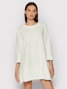 Imperial Imperial Sukienka dzianinowa ABOBBCR Biały Regular Fit