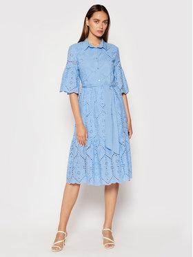 Rinascimento Rinascimento Košilové šaty CFC0103470003 Modrá Regular Fit