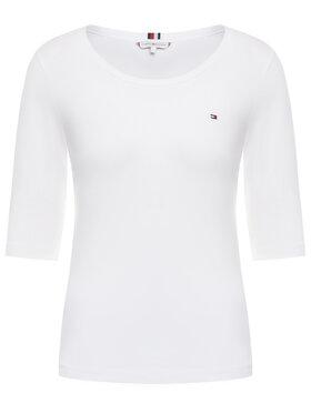 Tommy Hilfiger Tommy Hilfiger T-shirt Sld Round-Nk WW0WW26729 Blanc Regular Fit