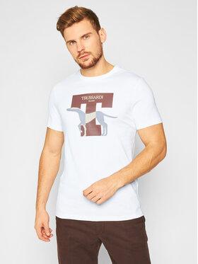 Trussardi Jeans Trussardi Jeans Tricou 52T00432 Alb Regular Fit