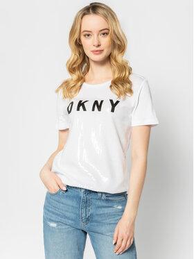 DKNY DKNY T-Shirt P9DH2CN2 Biały Regular Fit