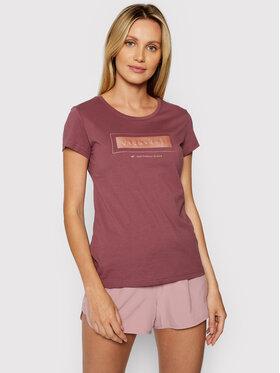 4F 4F T-Shirt H4L21-TSD034 Bordowy Regular Fit