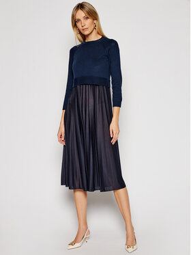Weekend Max Mara Weekend Max Mara Ensemble robe d'été et pull Aidone 53210317 Bleu marine Regular Fit
