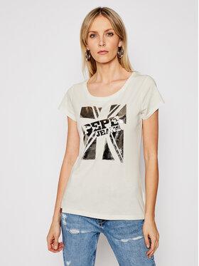 Pepe Jeans Pepe Jeans T-shirt Alessa PL504795 Beige Regular Fit