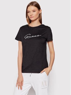 Guess Guess T-Shirt Amelia O1BA08 K8HM0 Schwarz Regular Fit
