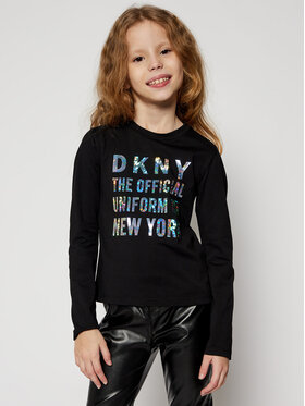 DKNY DKNY Bluză D35Q81 S Negru Regular Fit