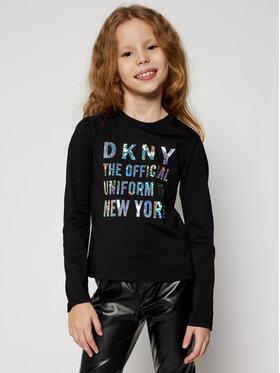 DKNY DKNY Bluzka D35Q81 S Czarny Regular Fit