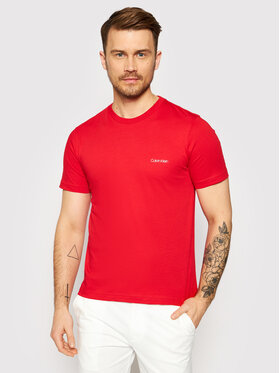 Calvin Klein Calvin Klein Marškinėliai Chest Logo K10K103307 Raudona Regular Fit