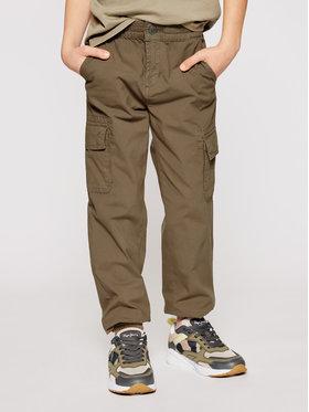Guess Guess Spodnie materiałowe L1RB00 WDSX0 Zielony Regular Fit