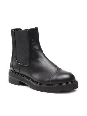 Stuart Weitzman Stuart Weitzman Kotníková obuv s elastickým prvkem Frankie S5618 Černá