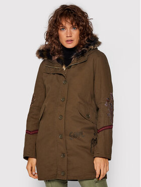 Desigual Desigual Куртка парка Lisboa 21WWEW74 Зелений Regular Fit